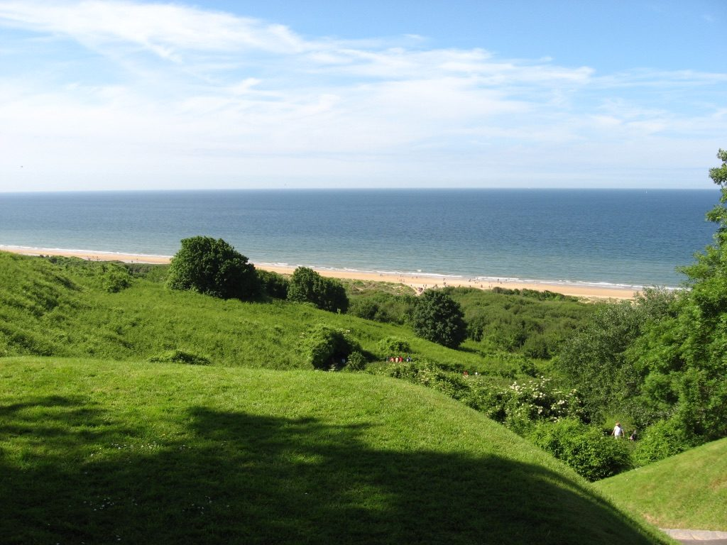 Point du Hoc overlooking Omaha Beach and Bay of Normandy, June 2014, Photo by Jerena Tobiasen