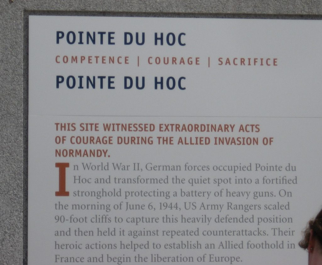 Plaque overlooking Omaha Beach, Normandy, France, June 2014, Photo by Jerena Tobiasen