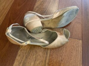 Worn Dance Shoes, Rhythm Shoes, Ballroom Shoes